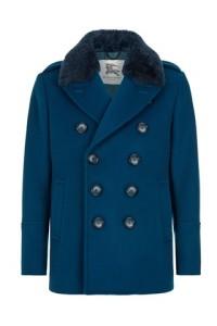 Harrods exkluzív Burberry kabát kékben,