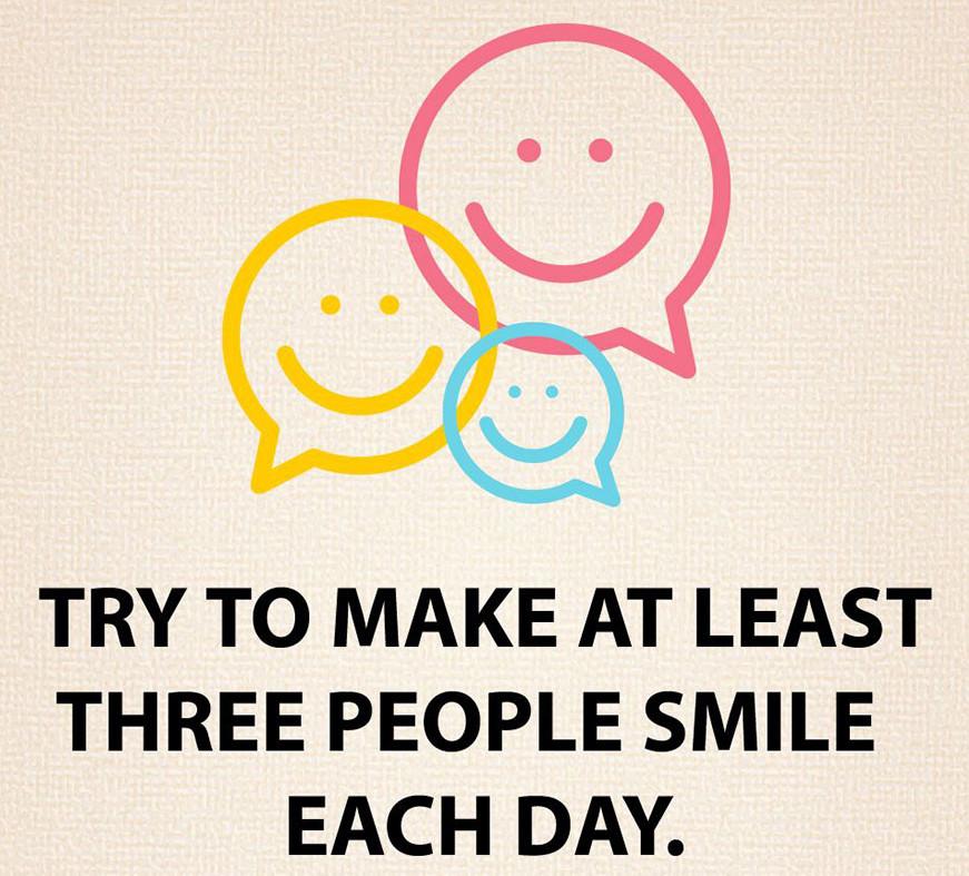 Bírj mosolyra legalább három embert minden nap