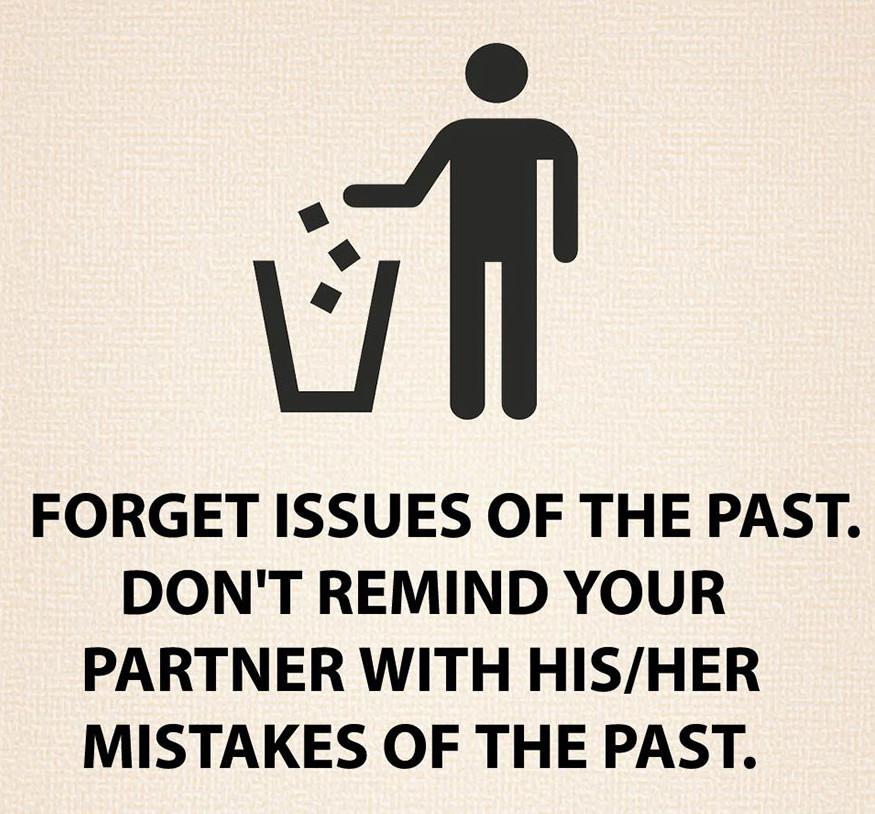 Hagyd hátra a múltat, és ne emlékeztess másokat a régi baklövéseikre