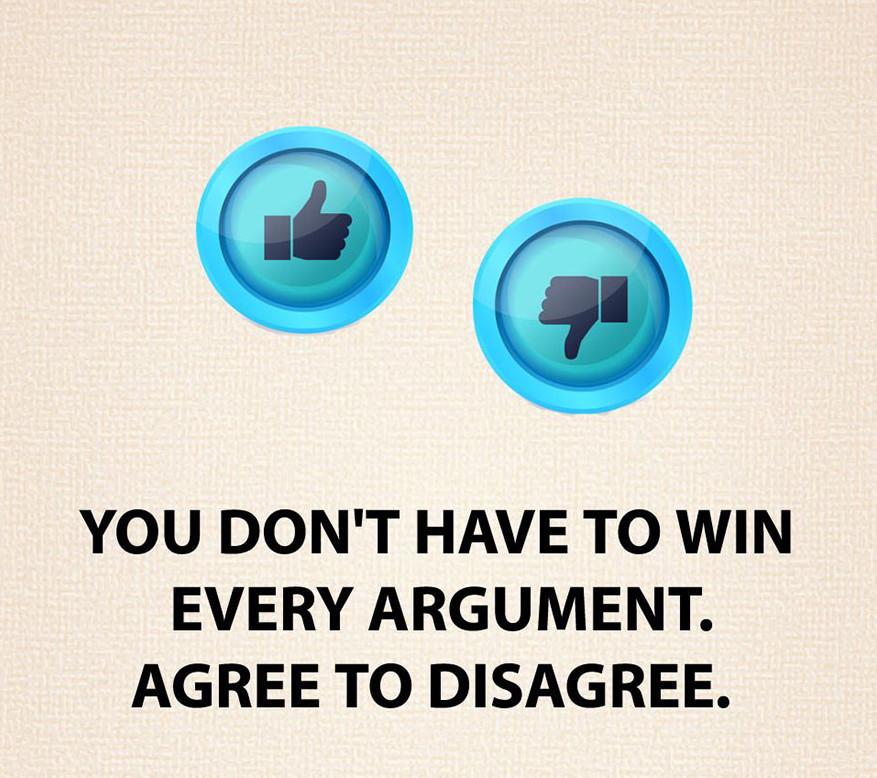 Nem kell megnyerned minden vitát, egyezz ki az egyet nem értéssel