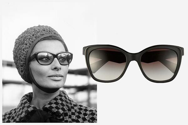 Sophia Loren 1965-ben egy Prada szemcsiben