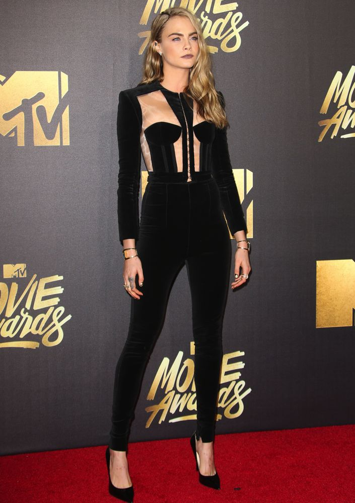 2016 MTV Movie Awards at Warner Bros. Studios - Arrivals Featuring: Cara Delevingne Where: Los Angeles, California, United States When: 09 Apr 2016 Credit: FayesVision/WENN.com