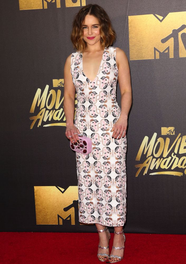2016 MTV Movie Awards at Warner Bros. Studios - Arrivals Featuring: Emilia Clarke Where: Los Angeles, California, United States When: 09 Apr 2016 Credit: Brian To/WENN.com