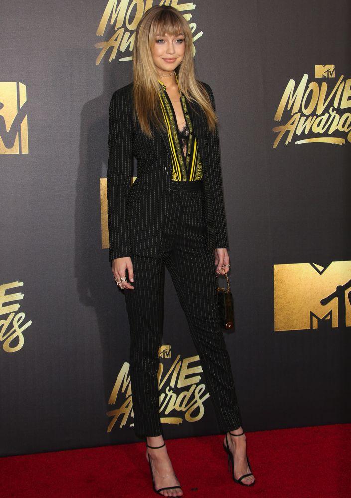 2016 MTV Movie Awards at Warner Bros. Studios - Arrivals Featuring: Gigi Hadid Where: Los Angeles, California, United States When: 09 Apr 2016 Credit: FayesVision/WENN.com