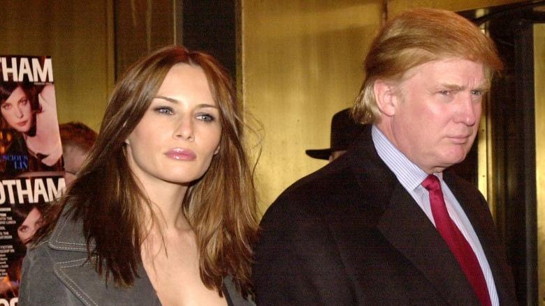 Trump jelenlegi feleségével, a 24 évvel fiatalabb Melania Trumppal