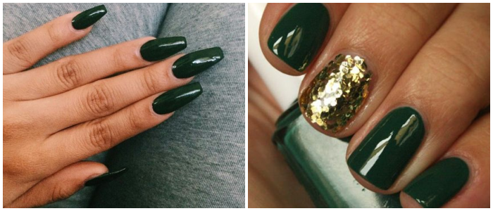 forest-green-nails-fashion-trend