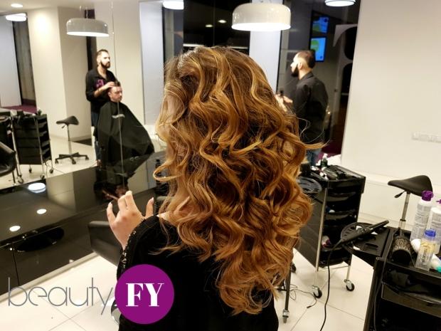 Sötétbarna és arany tigrisszem festés Olaplex hajszerkezet-javító használatával.